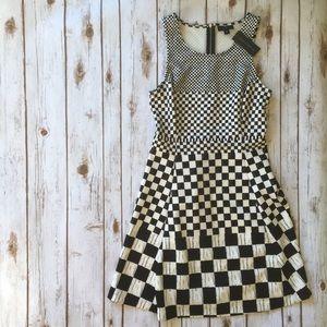 NWT Black and White Checkered Dress